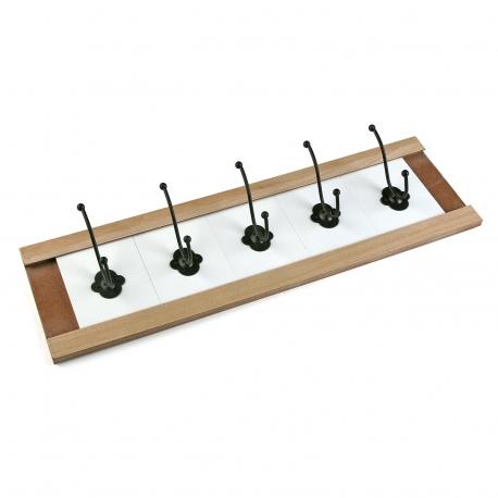 Perchero pared 5 colgador madera minimal - Perchero madera pared ...