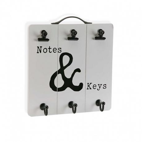 Colgador llaves y notas de madera