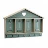 Caja colgadores de llaves madera