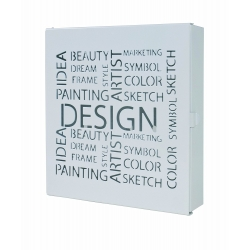 Caja llaves metal blanco design