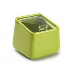 Salero ceramica verde con tapa acrilica