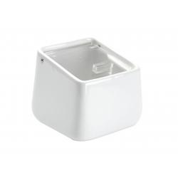 Salero ceramica blanco con tapa acrilica