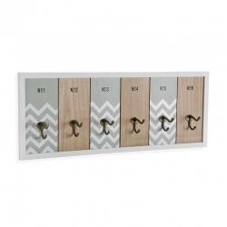 Colgadores de pared llaves madera