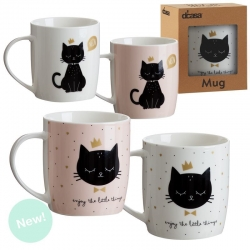 Set 4 tazas ceramica Cat lover