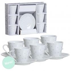 Juego de cafe 6 servicio estrellas plata en caja de regalo