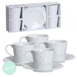 Juego de cafe 4 servicio estrellas plata en caja de regalo