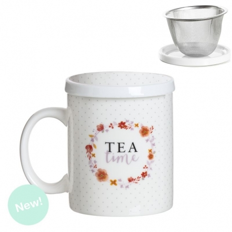 Taza de infusion tea time en caja de regalo