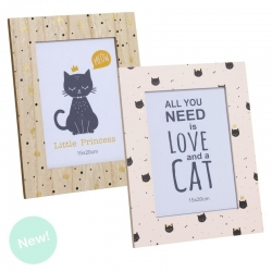 Pack 2 Portafotos cat lover tamaño 15x20