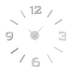 Reloj de pared de polipropileno plata moderno para salón Factory