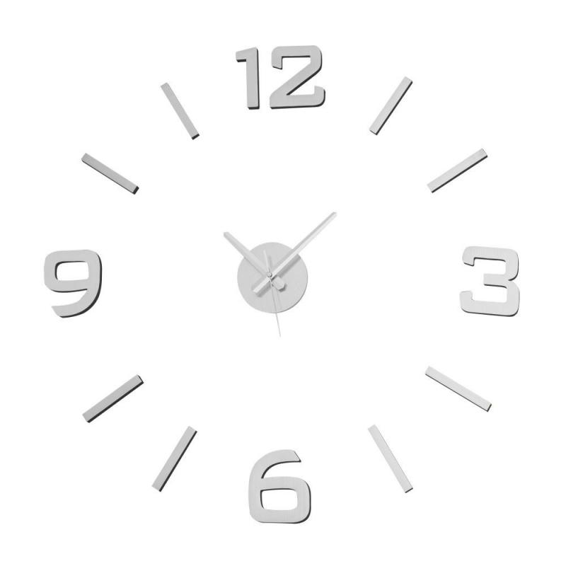Reloj de pared de polipropileno plata moderno para sal n for Relojes de salon modernos