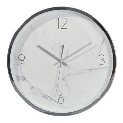 Reloj de pared minimalista blanco de plástico para cocina Fantasy