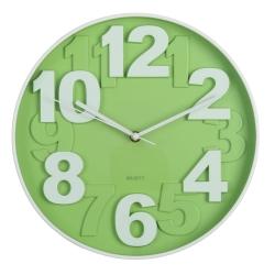 Reloj de pared moderno verde de plástico para cocina Bretaña