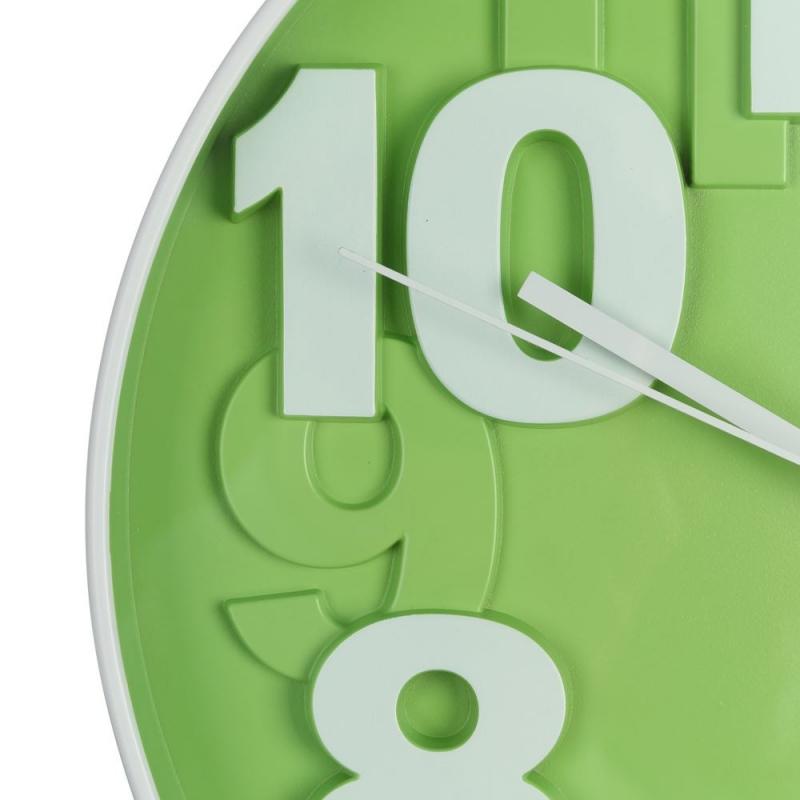 Reloj de pared moderno verde de pl stico para cocina - Reloj de cocina moderno ...