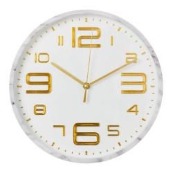 Reloj de pared moderno blanco de plástico para cocina Fantasy