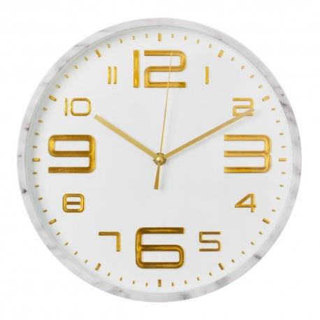 Reloj de pared moderno blanco de pl stico para cocina - Relojes cocina modernos ...