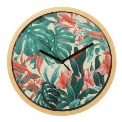 Reloj de pared étnico beige de plástico para cocina Bretaña
