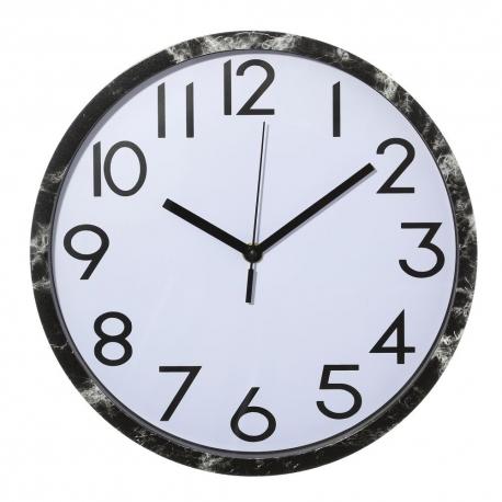Reloj de pared minimalista plateado de plástico para cocina Fantasy