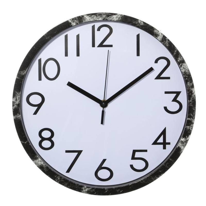 Reloj de pared minimalista plateado de pl stico para cocina fantasy - Reloj de pared para cocina ...
