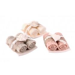 Vela decorativa diseño toalla 3 colores