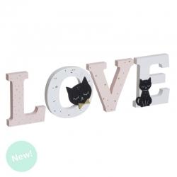 Letras madera gatos lover