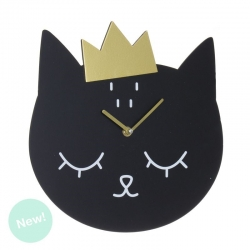 Reloj pared madera gatos lover
