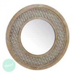 Espejo de pared redondo troquelado 50 cm