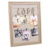 Panel portafoto con pinzas love 45x60 cm