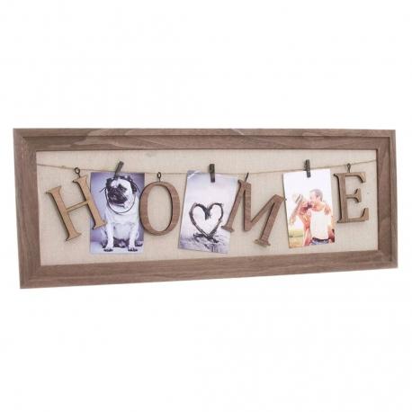 Panel portafoto con pinzas Home 75 cm