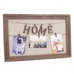 Panel portafoto con pinzas Home