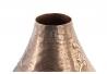 Jarrón aluminio cobre envejecido