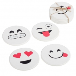 Posavasos madera super original emoticonos