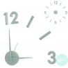 Reloj de pared adhesivo efecto 3D color verde aqua