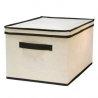 Caja guarda ropa con tapa color natural abatible M
