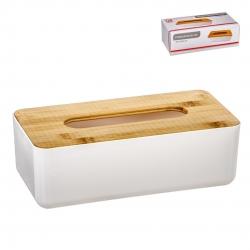 Caja porta pañuelos madera natural para tissues nordico