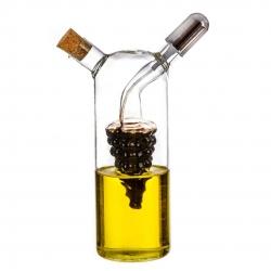 Aceitera de cristal con tapon y vinagrera spary