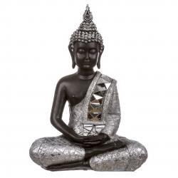 Figura buda de resina sentado 35 cm
