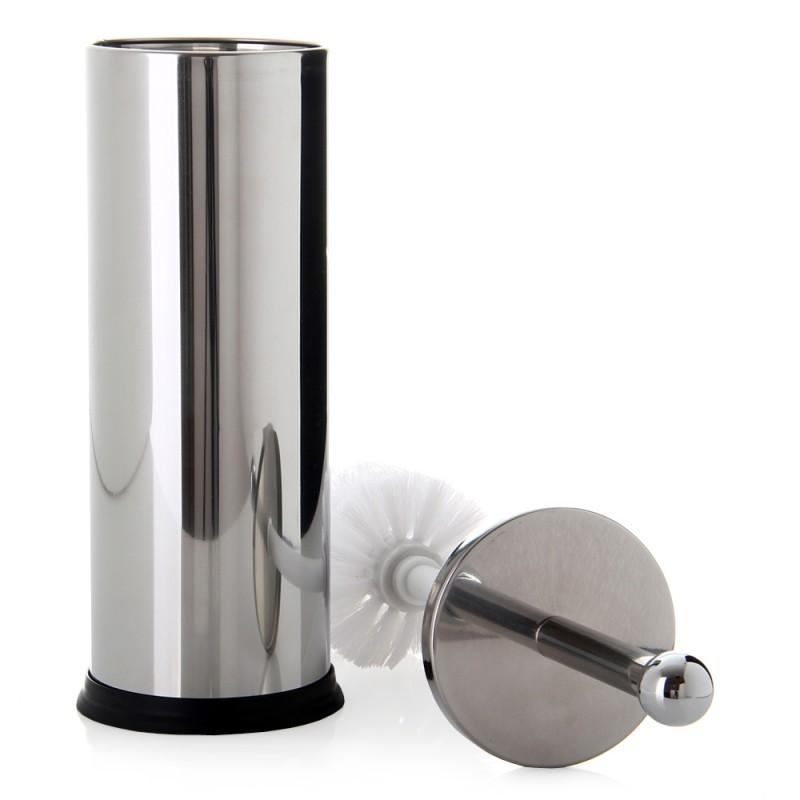 Escobillero clasico redondo acero inoxidable 10 x 10 x 35 cm for Accesorios para banos en acero inoxidable