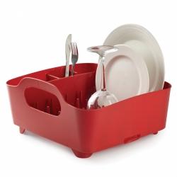 Escurridor de platos y vasos, escurreplatos, color rojo