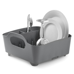 Escurridor de platos y vasos, escurreplatos, color gris