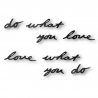 Palabras para pared do what you love, color negro