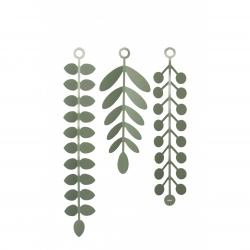 Decoracíon de pared hojas verde