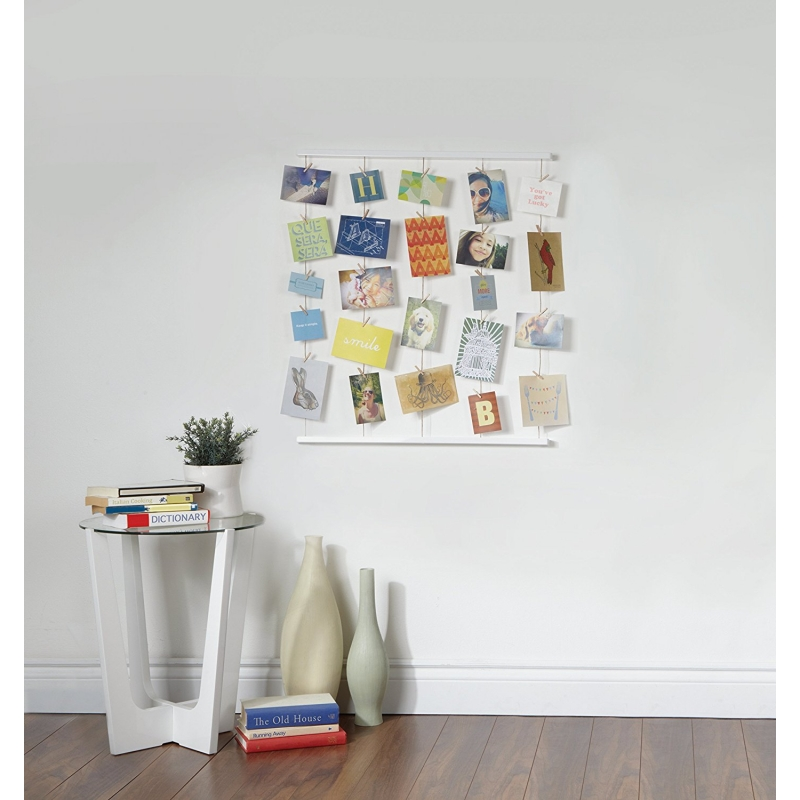 Marco de fotos con pinzas para pared  dcasa.es