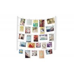 Marco de fotos con pinzas para pared