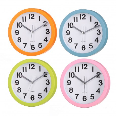 Reloj pared moderno liso pl stico 15cm ideal para cocina - Relojes pared cocina ...