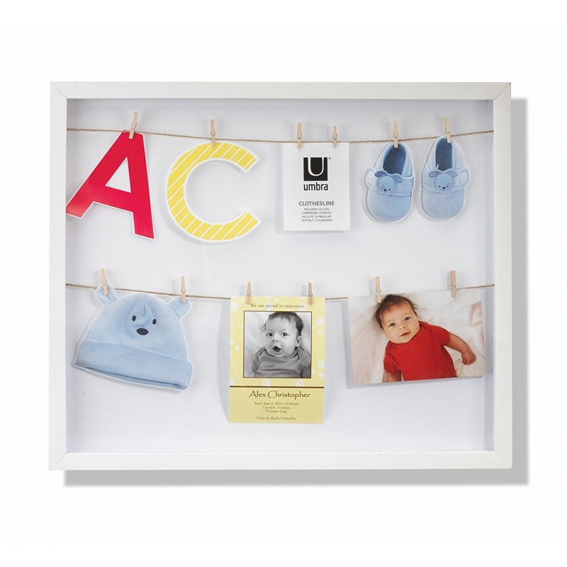 Marco Vertical con 12 pequeñas pinzas para fotos o notas, color ...