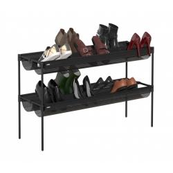 Estante zapatero 2 nivel para 16 pares de zapatos