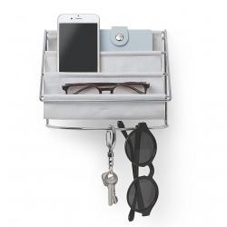 Organizador para llaves o accesorio , Cromo, Gris, 20x15x14 cm