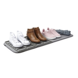 bandeja para zapatos con alfombra de secado lavable a máquina para 4 pares de zapatos