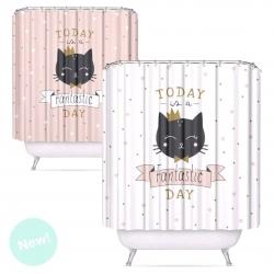 Cortina baño peva Cats 180 x200 cm