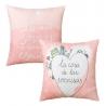 Juego de 2 cojines sonrisas 45x45 cm rosa